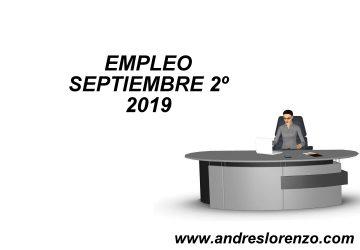 EMPLEO SEPTIEMBRE 2º 2019