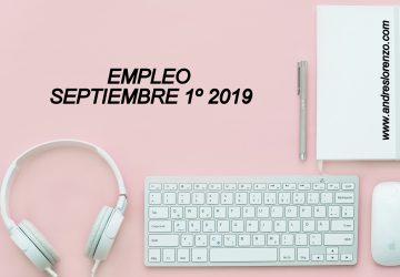Empleo Septiembre 1º 2019