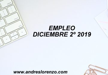 Empleo diciembre 2º 2019