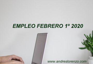Empleo Febrero 1º 2020