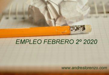 Empleo Febrero 2º 2020