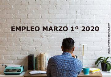 Empleo Marzo 1º 2020