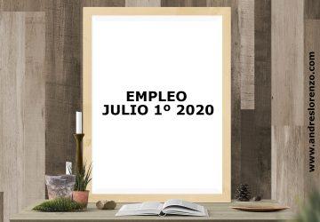 Empleo Julio 1º 2020