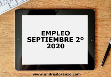 Empleo Septiembre 2º 2020