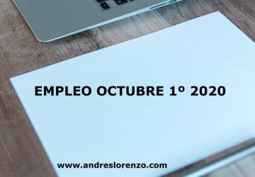 EMPLEO OCTUBRE 1º 2020