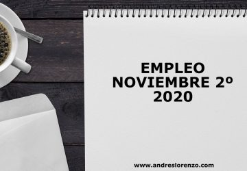 Empleo Noviembre 2º 2020 Bueno